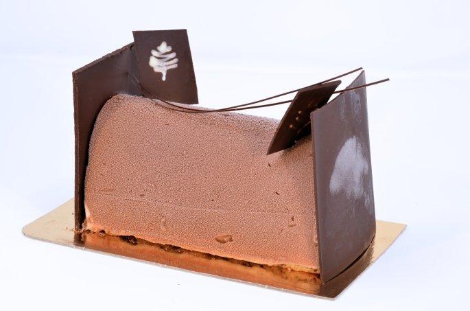 Bûche sorbet vanille-chocolat